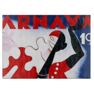 Vintage 1942 Montevideo Carnaval Poster Cutting Boards