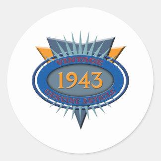 Vintage 1943 classic round sticker