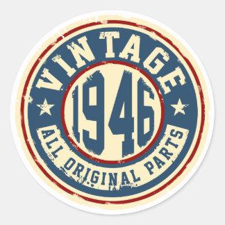 Vintage 1946 All Original Parts Classic Round Sticker
