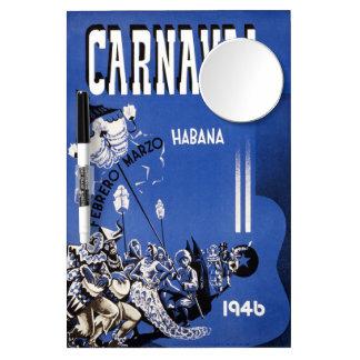 Vintage 1946 Carnaval Habana Poster Dry Erase Boards