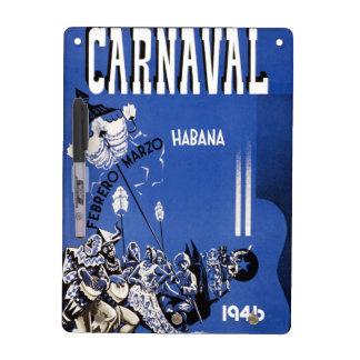 Vintage 1946 Carnaval Habana Poster Dry-Erase Board