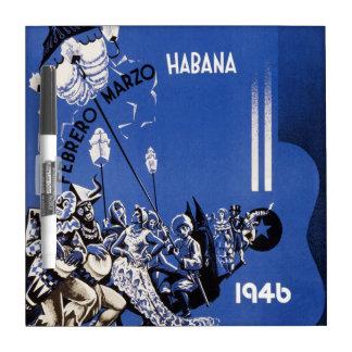 Vintage 1946 Habana Carnaval Poster Dry Erase Whiteboard