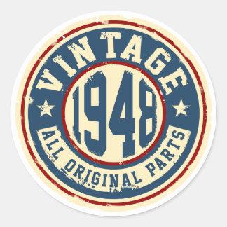 Vintage 1948 All Original Parts Classic Round Sticker