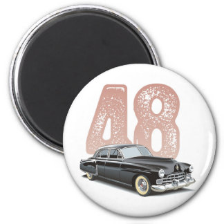 Vintage 1948 Cadillac Coupe: Black classic car Magnet