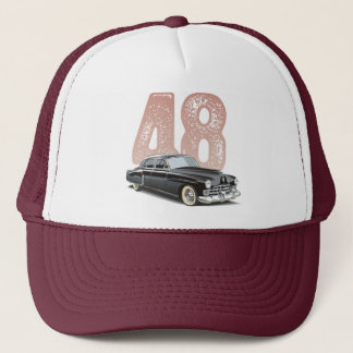 Vintage 1948 Cadillac Coupe: Black classic car Trucker Hat