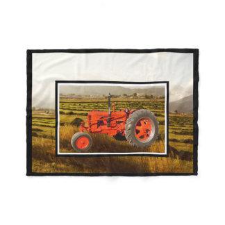 Vintage 1948 Case DC Tractor Fleece Blanket