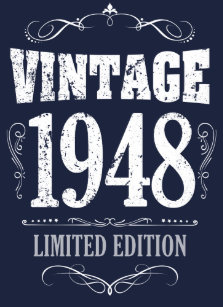 vintage 1948 funny 70th birthday saying t shirt