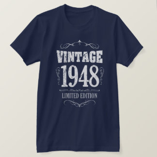 Vintage 1948 funny 70th Birthday Saying T-Shirt