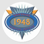 Vintage 1948 round stickers