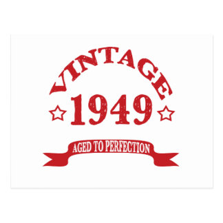 Vintage 1949 Aged to Paerfection Postcard