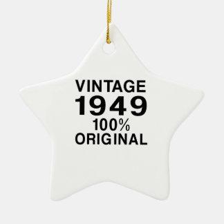 Vintage 1949 ceramic ornament