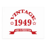 Vintage 1949 envejecido a Paerfection Tarjetas Postales