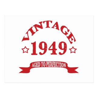Vintage 1949 envejecido a Paerfection Postal
