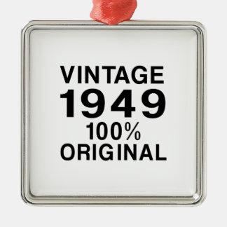 Vintage 1949 metal ornament