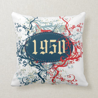 Vintage 1950 (Birthday, Since 1950, Made in 1950) Throw Pillow