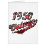 Vintage 1950 felicitación