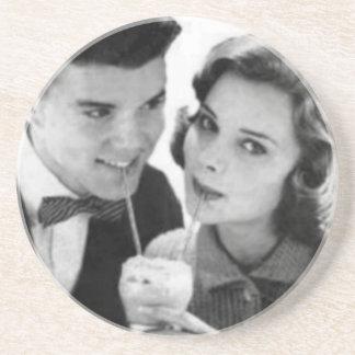 VINTAGE 1950 MALT SHOPPE PHOTO Coaster