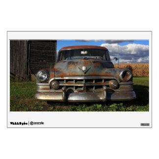 Vintage 1950 Rusty Cadillac Wall Sticker