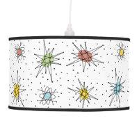 Vintage 1950s Atomic Age Design Hanging Lamp