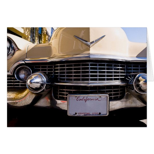 Vintage 1950s Classic Caddy Grill Photograph Card