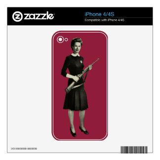 Vintage 1950s Gun Gal Rifle Apple iPhone 4 Skin