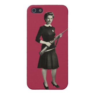 Vintage 1950s Gun Gal Rifle Apple iPhone 5 Case