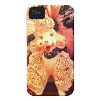 Vintage 1950s Pink Poodle Dog iPhone Case Retro iPhone 4 Cover
