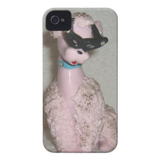Vintage 1950s Pink Poodle with Sun Glasses Bling Case-Mate iPhone 4 Case