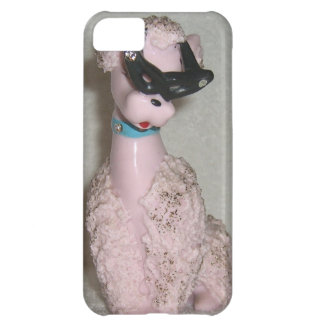 Vintage 1950s Pink Poodle with Sun Glasses Bling iPhone 5C Case