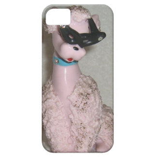 Vintage 1950s Pink Poodle with Sun Glasses Bling iPhone SE/5/5s Case
