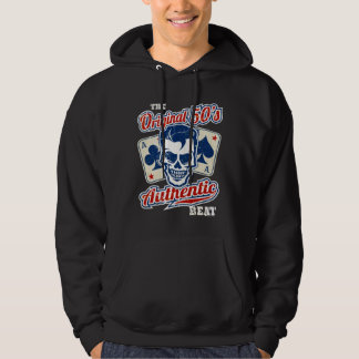 Vintage 1950s Rockabilly Skull with Aces Hoodie