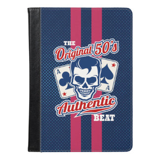 Vintage 1950s Rockabilly Skull with Aces iPad Air Case