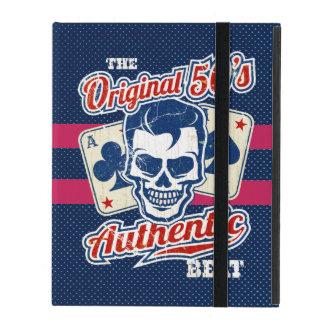 Vintage 1950s Rockabilly Skull with Aces iPad Folio Cases
