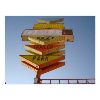 Vintage 1950's Route 66 Sign Retro Post Cards