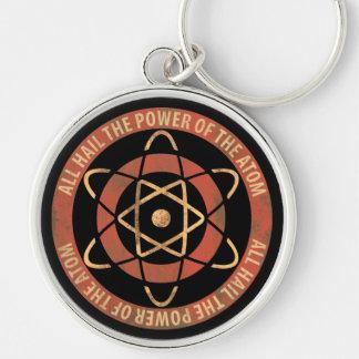Vintage 1950's Sci-Fi Atomic Power Logo Key Chain