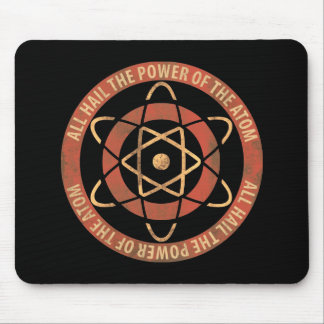 Vintage 1950's Sci-Fi Atomic Power Logo Mouse Pad