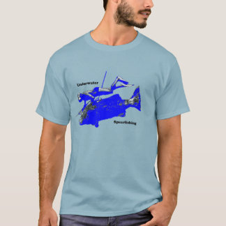 Vintage 1950s Underwater Spearfishing Diver T-Shirt