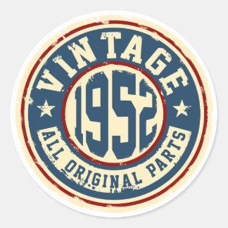Vintage 1952 All Original Parts Classic Round Sticker
