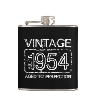 Vintage 1954 Aged to perfection drinking flask
