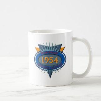 Vintage 1954 classic white coffee mug