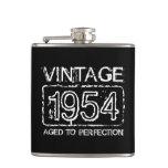Vintage 1954 envejecido al frasco de consumición d
