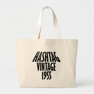 vintage 1955 designs large tote bag