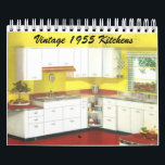 """Vintage 1955 Kitchens - Classic 1950's Decor Calendar<br><div class=""""desc"""">Timeless art and creations with a mix of classic vintage and modern designs.</div>"""