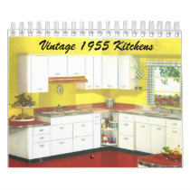 Vintage 1955 Kitchens - Classic 1950's Decor Calendar