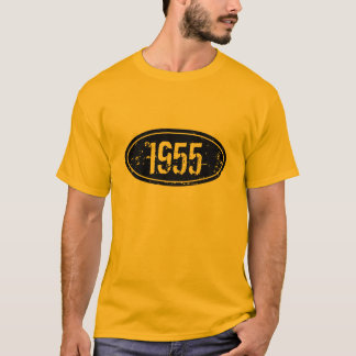 Vintage 1955 t shirt for men | Custom birth year