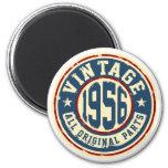 Vintage 1956 All Original Parts 2 Inch Round Magnet