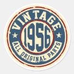 Vintage 1956 todas las piezas de la original pegatina redonda