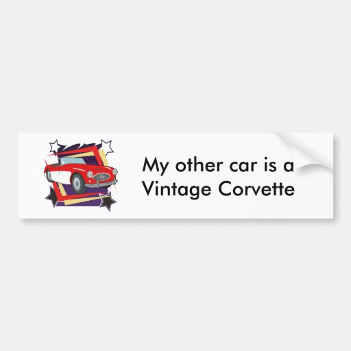 Vintage 1957 Corvette Bumper Sticker