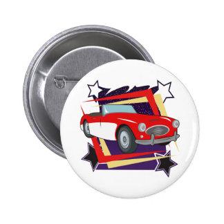 Vintage 1957 Corvette Pinback Button