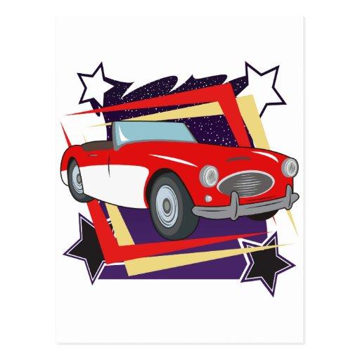 Vintage 1957 Corvette Postcard